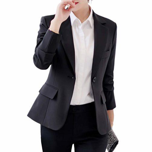 Leoie Blazers Women's Slim Casual Suit Blazer