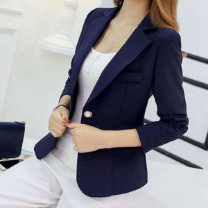 Leoie Blazers Women's Slim Casual Suit Blazer Long Sleeve Open Blazer Jacket
