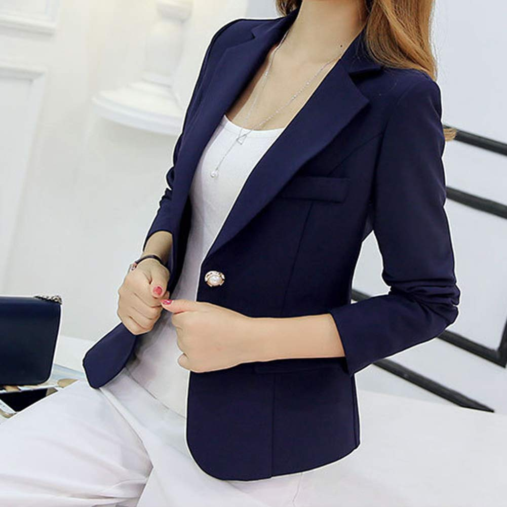 Leoie Blazers Women's Slim Casual Suit Blazer Long Sleeve Open Blazer Jacket