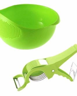 Rice Pulses Fruits Vegetable Noodles Pasta Washing Bowl & Strainer Good Quality & Perfect Size for Storing and Straining Pack of 1