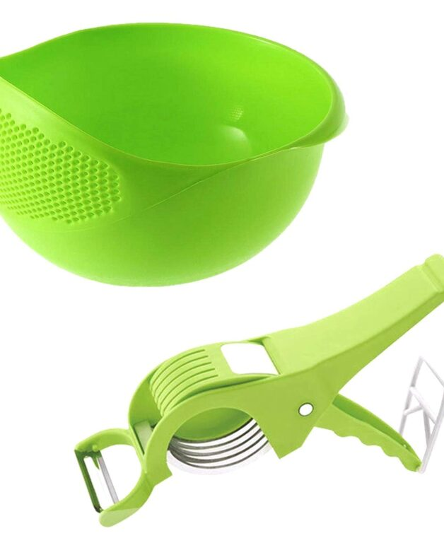 Good quality: Rice, pulses, pasta, noodles, fruits, vegetables washer and strainer Prevents food from getting wasted while straining water from the bowl Perfect size for storage in kitchen and for washing fruits, Vegetables, pulses etc. Color: Multicolour, Material: Plastic Package Contents: 1-Piece
