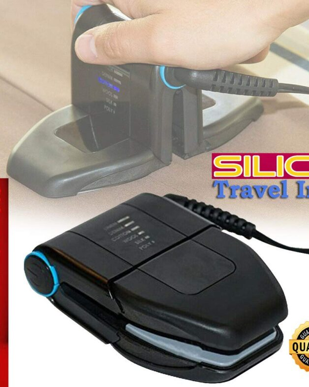 Silico Small Size Travel Iron - Portable Compact Foldable Sleek Mini Handheld Folding Press