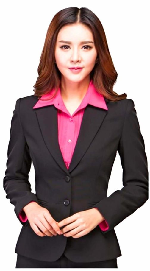 KARF Women's Formal Blazer Black