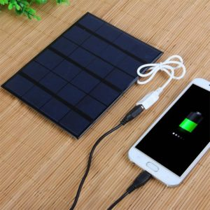 kebidu Dual USB 5V 3.6W Portable Outdoor Solar Panel Charger for Cell Phone with LED Light