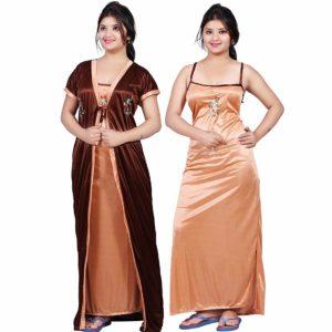 Night suit for Women Satin Full Length Nighty