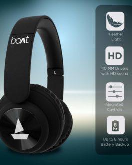 boAt Rockerz Wireless Headphone(Luscious Black)