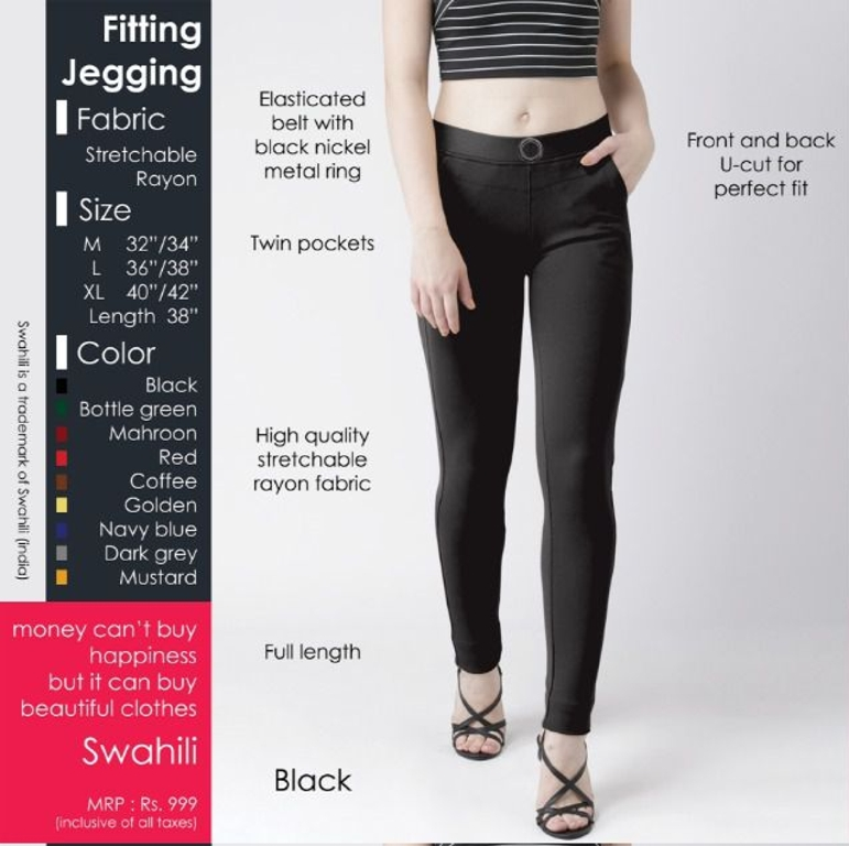 Fitting jeggings Stretchable Black