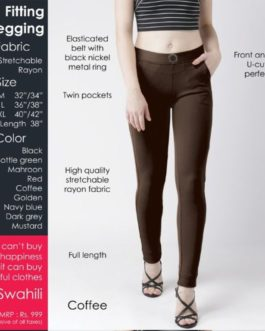 Fitting jegging Stretchable Coffee
