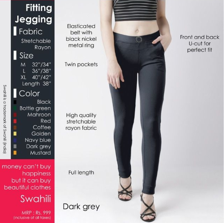 Fitting jeggings Stretchable Dark Grey