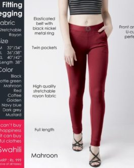 Fitting jegging Stretchable Mahroon