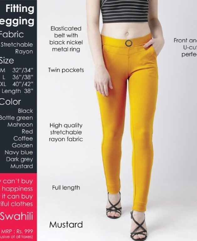 Fitting jegging Stretchable Mustard