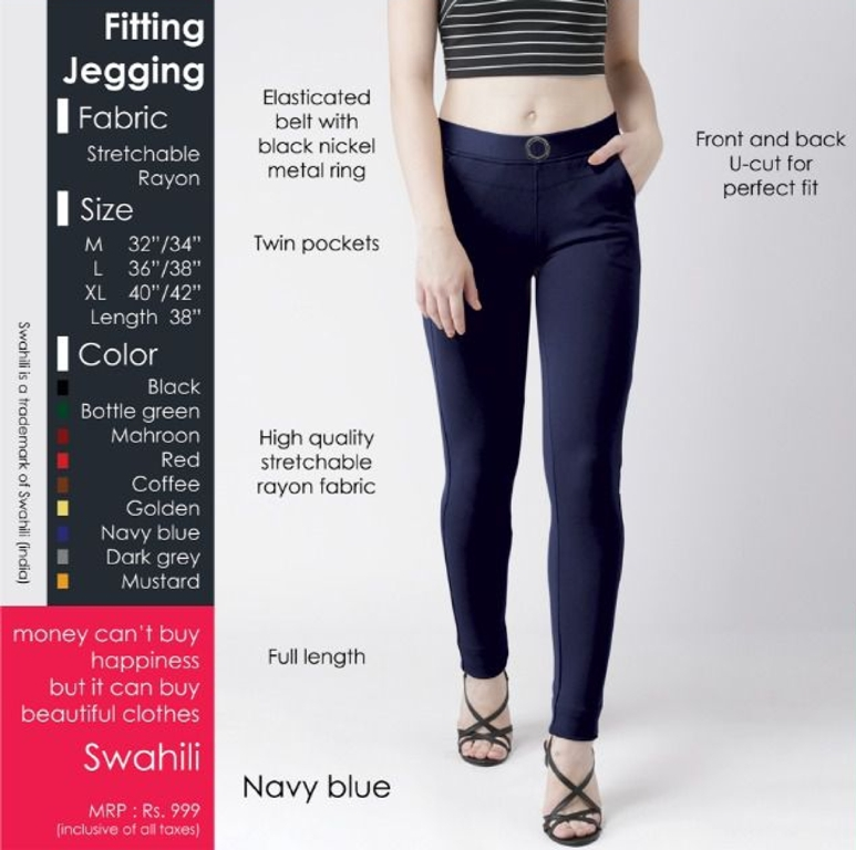 Fitting jegging Stretchable Navy Blue