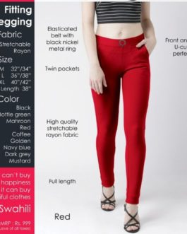 Fitting jegging Stretchable Red